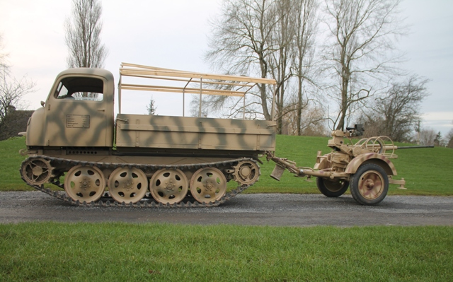 Steyr rso & Flak 38 video test on the road…